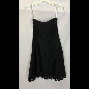 Shoshanna Strapless Floral Dress Lace Trim Sz 2